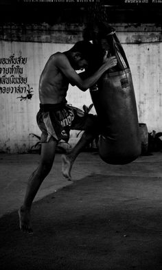 ♂ world Martial Arts Muay Thai black & white boxing