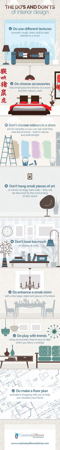 The Do's and Don't of interior design Infographic