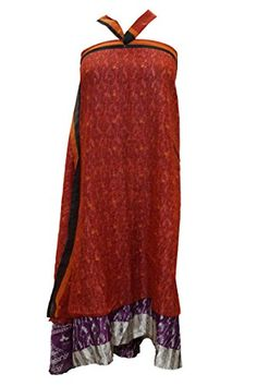 Women's Wraps Skirt Dress Two Layer Reversible Silk Sari Long Skirts Mogul Interior http://www.amazon.com/dp/B01A56P5L2/ref=cm_sw_r_pi_dp_PicJwb070YYK0
