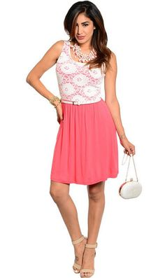 For a Classy Look Trendy Floral Top Pattern Dress in Coral - Andreas Boutique #fashion #style #ootd #ootn