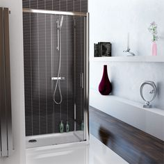Technik is known for producing high-quality bathroom products and their Technik Framed Sliding Doors are some of their finest work yet. Home And Family, Monochrome Bathroom, Modern House, Bathroom, Frame, Sliding Doors, Safety Glass, Sliding Shower Door, Bathroom Inspiration