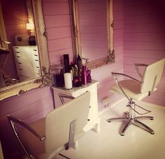 My new salon chairs for my home salon love them