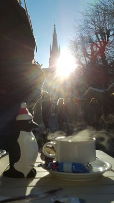 Morning coffee at Bruges Christmas market