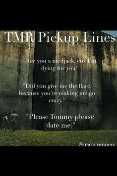 The Maze Runner pick up lines... Instagram edit.