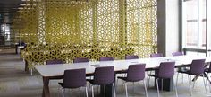 Yellow Abstracta Airflake Acoustic Panels