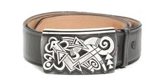 A Hopi Sterling Silver Overlay Belt Buckle, Michael Kabotie,Lomawywesa, Hei