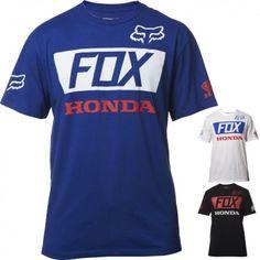 Fox Racing Honda Basic Standard Tees Tops Short Sleeve Mens T-Shirts