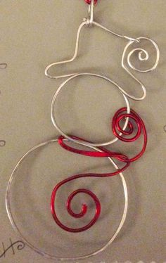 Christmas crafts, wire snowman, ornament                                                                                                                                                                                 More