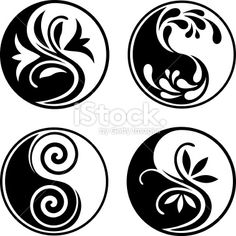 Set of yin yang symbols – Tattoo Pattern Arte Yin Yang, Yin Yang Art, Yin And Yang, Yin Yang Tattoos, Symbole Ying Yang, Jing Y Jang, Lottus Tattoo, Medical Drawings, Yin Yang Designs