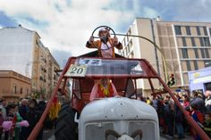 BADAJOZ, SPAIN, MARCH 4: Performers on tractor take part in the Carnival parade of comparsas at Badajoz City, on March 4, 2014. This is one of the best carnivals in Spain, renown by all the national news media and especially highlighting massive participation of people. | Stock Photo | Colourbox on Colourbox