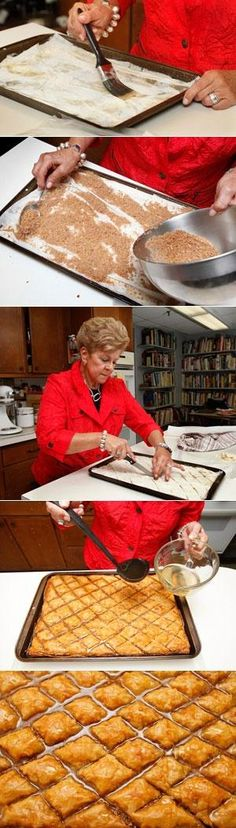 Step-by-step instructions for AUTHENTIC Greek BAKLAVA - Love with recipe. If you've ever purchased Baklava, you've never really had Greek Baklava. This recipe is Baklava at it's best! Moist with just the right amount of sweetness. A flaky delicacy that melts in your mouth, delicious!!! #nomnomnom www.refugemarketing.com