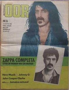 """muziekkrant oor (1980/08/13, magazine, the netherlands) Bi-weekly Dutch music magazine Oor did a Zappa special in 1980. The August 13 issue presented the first part of this special. """"Zappa Completa - deel een"""", cover & a 6-page special """"Een buitenbeentje"""" by Roberto Palombit """"Geef mij wat vloerbedekking..."""" by Bert van Manen en Co de Kloet """"The Mothers"""" by Bert van Manen en Co de Kloet """"Le Guitariste"""" by Roberto Palombit"""