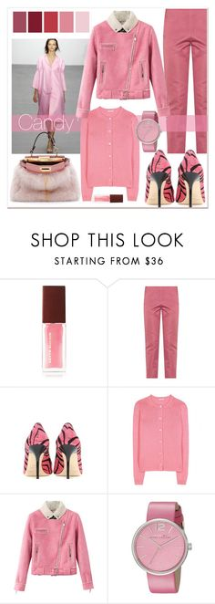 """Candy Color Trend"" by elegal32 ❤ liked on Polyvore featuring Seed Design, Kevyn Aucoin, Bottega Veneta, Jimmy Choo, Miu Miu, Relaxfeel, Marc by Marc Jacobs, Fendi, colortrend and candypink"