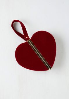 Small Bags & Clutches - Keen of Hearts Clutch in Red _ http://www.modcloth.com/shop/handbags