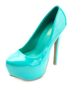 almond toe mega platform pumps. I want these!