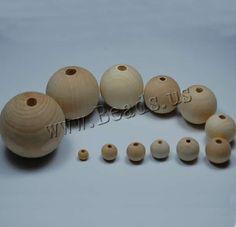 Wood Beads Round original color