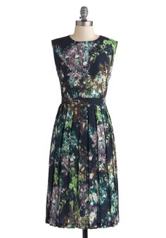 Flaunt Every Facet Dress. As you walk into the room with an intriguing look in your eye, the growing geode print of this ModCloth-exclusive dress by Myrtlewood appears utterly stunning. #multi #modcloth
