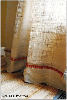 Easy burlap curtains