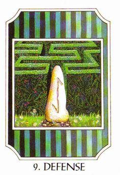 9. Defense (Eihwaz) - Rune Cards by Ralph Blum Illustrated by Jane Walmsley