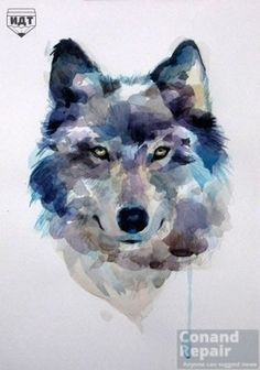 Ideas drawing wolf watercolor for 2019 Watercolor Wolf, Watercolor Animals, Watercolor Paintings, Tattoo Watercolor, Watercolor Water, Pastel Paintings, Watercolor Sketch, Animal Paintings, Animal Drawings