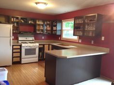 painting kitchen cabinets - frames painted