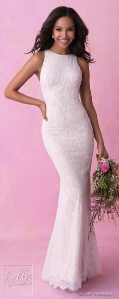 Bridal Trends: Halter Wedding Dresses - Allure Romance Fall 2018. Bridal Trends: Halter Wedding Dresses . Boho wedding gown | High neck bohemian bridal gown for the modern bride #weddingdress #weddingdresses #bridalgown #bridal #bridalgowns #weddinggown #bridetobe #weddings #bride #weddinginspiration #dreamdress #fashionista #weddingideas #bridalcollection #bridaldress #fashion #dress See more halter wedding gowns by clicking on the photo