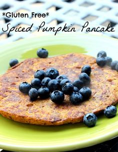 Pumpkin Pancake  1 medium very ripe banana, mashed  1 egg, whisked  1/4 cup canned (pureed) pumpkin  1 Tbsp. ground flaxseed (great source of healthy fat!)  1 tsp. of vanilla extract  Few shakes of cinnamon, plus a pinch of nutmeg and ground cloves