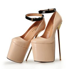 Online Shop NEW Ultra Thin Metal Heel Pump Extreme High Heels with Platform Women Shoes Buckle Strap Lady Cosplay Pump Big Size Hot Heels, High Heels Stilettos, High Heel Boots, Stiletto Heels, Shoe Boots, Sexy Heels, Women's Shoes, Cheap High Heels, Extreme High Heels