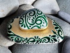 Enchanted Emerald Island / 2 Painted Rocks / by LoveFromCapeCod