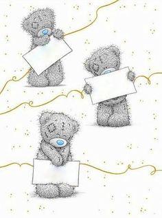 Teddy Bear Drawing, Good Luck Cards, Teddy Bear Pictures, Blue Nose Friends, Origami, Decoupage, Tatty Teddy, Love Bear, Mom Tattoos