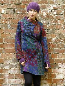 Hippy Coat~Bohemian Chinese Patchwork Fitted Wrap Coat~Fair Trade by Folio Gothic Hippy~HW60