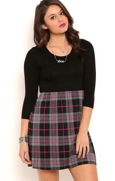 Deb Shops plaid skater dress $15.00