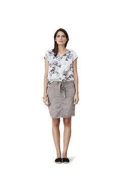 soyaconcept - top - blouse - t-shirt - skirt - flower - flowerprint