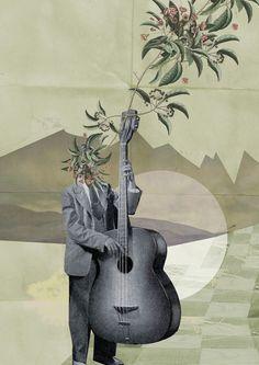 """""""Der Musik Mann"""" Grafik/Illustration von Eine Der Guten jetzt als Poster, Kunstdruck oder Grußkarte kaufen.."""