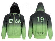 Degradé verdes. Apliques dobles. Adidas Jacket, Athletic, Jackets, Fashion, Doubles Facts, Appliques, Down Jackets, Moda, Athlete