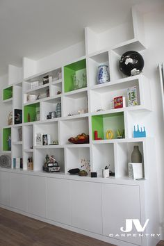 Fitted alcove units, bookcases, cupboards and shelving | JV Carpentry