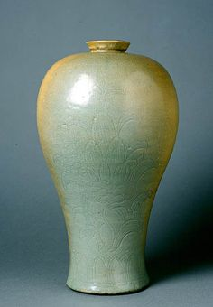 Maebyong, couverte céladon, Corée, époque Koryô (XIIe siècle), Musée Guimet, Paris