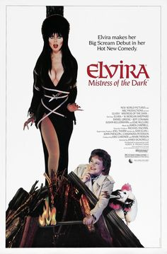 Elvira, Mistress of the Dark is a 1988 comedy horror film directed by James Signorelli. Cassandra Peterson plays the role of horror hostess Elvira in her feature film debut. The screenplay was written by Peterson, John Paragon and Sam Egan Cassandra Peterson, Good Girl, Horror Movie Posters, Horror Movies, 80s Movies, Horror Icons, Cinema Posters, Comedy Movies, Monster Party