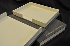 Bella Forte Books Interior Design Presentation Boxes: Notched Double Walled Clamshell Boxes - Bella Forte Books