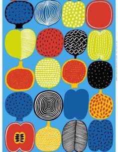 Marimekko online shop - Finnish fabrics and textiles Motifs Textiles, Textile Patterns, Print Patterns, Floral Patterns, Pattern Designs, Design Textile, Fabric Design, Illustrations Vintage, Marimekko Fabric