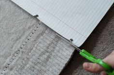 using notebook paper as your pattern - be sure to measure inseam