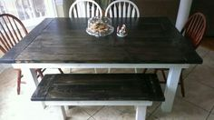 Farmhouse table with bench..
