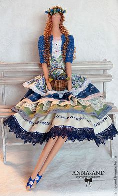 Куклы Тильды ручной работы. Ярмарка Мастеров - ручная работа Вилена-любительница черники.(по мотивам). Handmade.♡