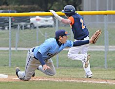 Cape first baseman David Kwan makes a diving put out on a Delmar batter during the Vikings' 8-5 loss to the Wildcats. Click http://capegazette.villagesoup.com/p/cape-baseball-falls-to-delmar-8-5/1162840 to read baseball article: Cape baseball falls to Delmar 8-5