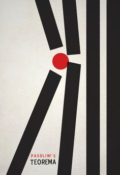 Teorema by Edward Lanius in 50 Fresh Minimal Movie Posters