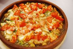 Turks stoofpotje met kipfilet, paprika,champignons en kaas Real Food Recipes, Cooking Recipes, Healthy Recipes, Wok, I Love Food, Good Food, Tajin Recipes, Curry, Turkish Recipes