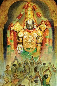 Perumal,Lord Venkatesa Painting,Tirupati