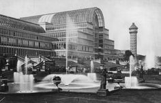 Circa 1880: Fountains outside the Crystal Palace, the exhibition hall designed by Sir Joseph Paxton and reconstructed at Sydenham in south London, England. (Photo by Hulton Archive/Getty Images)