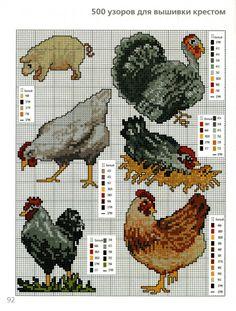 farm animals cross stitch