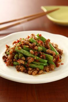 pork and green beans | Taiwanese food #microwave #recipe in Chinese